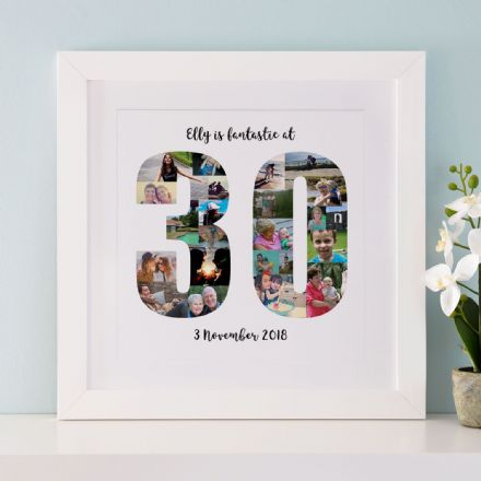 Personalised 30th Birthday Photo Collage